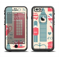 The Vector London Time Red Apple iPhone 6 LifeProof Fre Case Skin Set