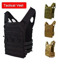 Adjustable Tactical Vest Molle Vest Outdoor Hunting Airsoft Paintball Molle Vest With Chest Protective Plate Carrier Vest