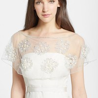 Women's Wedding Belles New York Embroidered Capelet
