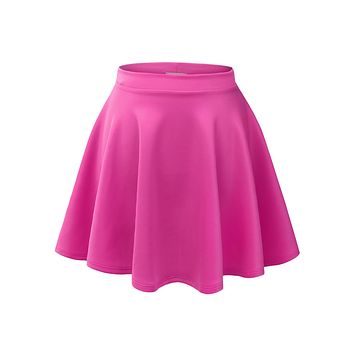 Versatile Stretchy Flared Skater Skirt