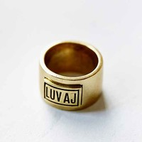 Luv Aj Plain Ring- Gold