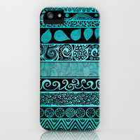 Tribal Evolution In Color iPhone Case by Pom Graphic Design