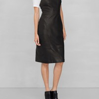 & Other Stories | Leather Apron Dress | Black