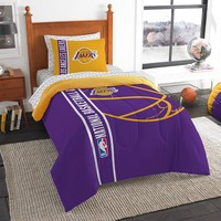 Los Angeles Lakers NBA Twin Comforter Bed in a Bag (Soft & Cozy) (64in x 86in)