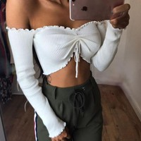 T-shirts Sexy Long Sleeve Tops Bottoming Shirt winter women clothes