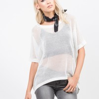 Honeycomb Knit Top