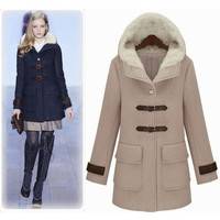 European and American women's 2014 fall and winter woman clothes Slim fit woolen coat long coat jacket women clothing/1552339KKNN1364 = 1956225732