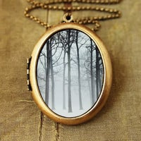 Ink And SnowFine Art Photo Locket by HeartworksByLori on Etsy