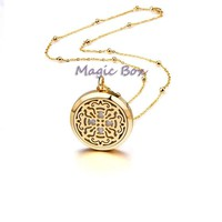 Aromatherapy Gold Diffuser Necklace