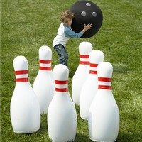 Indoor/Outdoor Giant Inflatable Bowling Game | Outdoor Play Toys