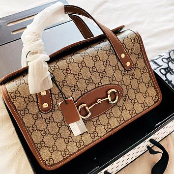 Hipgirls GUCCI New fashion more letter leather shoulder bag handbag