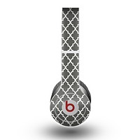 The Gray Toned Layered CHevron Pattern Skin for the Beats by Dre Original Solo-Solo HD Headphones
