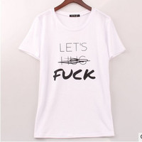 Strong Character Fashion Couple Cotton Short Sleeve T-shirts [5024190916]
