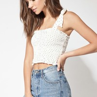 LA Hearts Tie Strap Smocked Top at PacSun.com