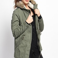 Casual, Solid, Cotton, anoraks