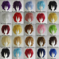 """Cheap Super Deal 50% OFF Promotion 30cm/12"""" Full Short Hair Multi-Color Cosplay Wigs for Party ,Halloween"""