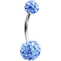 Light Blue Preciosa Crystal Evolution Belly Ring | Body Candy Body Jewelry