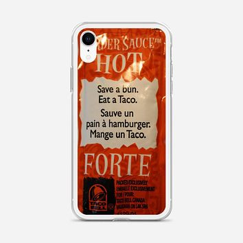 Taco Bell Packets iPhone XR Case