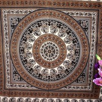 Star Hippie Tapestry Wall Hanging, Mandala Beach Tapestries Throw, Bohemian Boho Indian Bedspread Tapestry Room Decor, Gypsy Dorm Bedding, Tapestries for College, Tapestry