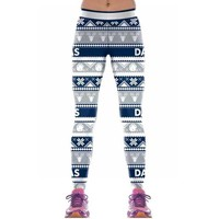 Dallas Cowboys Christmas Sweater Print Leggings (Plus Sizes Available)