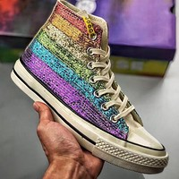 Trendsetter Miley Cyrus x Converse Chuck 1970  Women Men Fashion Casual High-Top Canvas Shoes