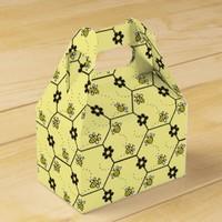 Cute Bumble Bees Pattern Favor Boxes