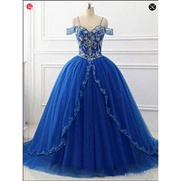 Princess Prom Dresses, Ball Gown, Homecoming Dress, Formal Dress, Evening Dress, Dance Dresses, Graduation Party Dress, DT0757