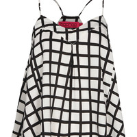 Marie Grid Print Woven Swing Camisole