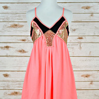 Life is Better at the Beach Dress - Neon Coral