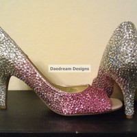 Custom Color Transitioning Bling Pumps by DaedreamDesigns on Etsy
