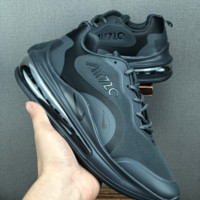 HCXX 19June 1167 Nike Air Max 720 Fashion Comfortable Running Shoes black