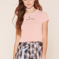 Dear Diary Graphic Crop Tee