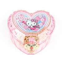 Hello Kitty Heart-Shaped Clear Accessory Case: Pink