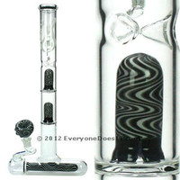 Lil Lazzy Glass Bong with two inline percolaters by WeedStar