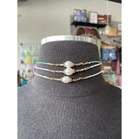 Mother Of Pearl Choker-3 Colors-PINK PANACHE