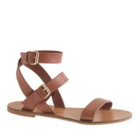 Leila ankle-wrap sandals : | J.Crew