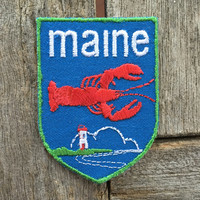 Maine Vintage Souvenir Travel Patch from Voyager - New In Original Package