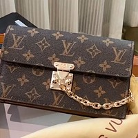 LV Lock new mini chain chest bag waist bag shoulder bag crossbody bag
