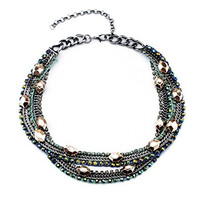Knitting Multilevel Vintage Chain Bohemian Style Necklace