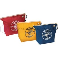 Klein Tools Assorted Canvas Zipper Bags - 3 Pack