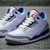 NIKE Air jordan 3 aj 3 men's and women's basketball shoes sneakers