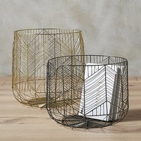 blanche metal baskets