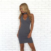 Socialite Knit Grey Dress
