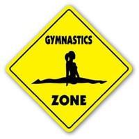 GYMNASTICS ZONE Sign novelty gift sport gym