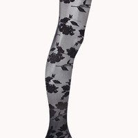 FOREVER 21 Floral Tights