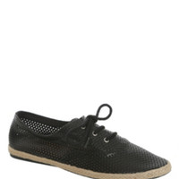 Steve Madden Black PU Lace-Up Sneakers
