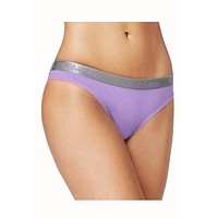 Calvin Klein Purple Radiant Cotton Thong