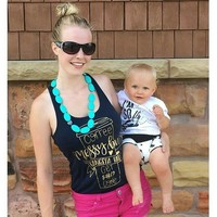 The Teal Flats Baby Teething / Nursing Necklace with Heart