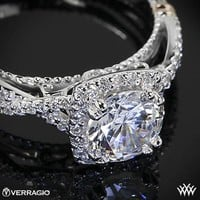 Zoomed View of Verragio Twisted Halo Diamond Engagement Ring | 2222
