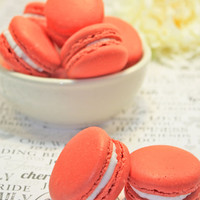French Macaron, Assorted French Macaron Sampler - Customized 3 dozens of 6 flavors